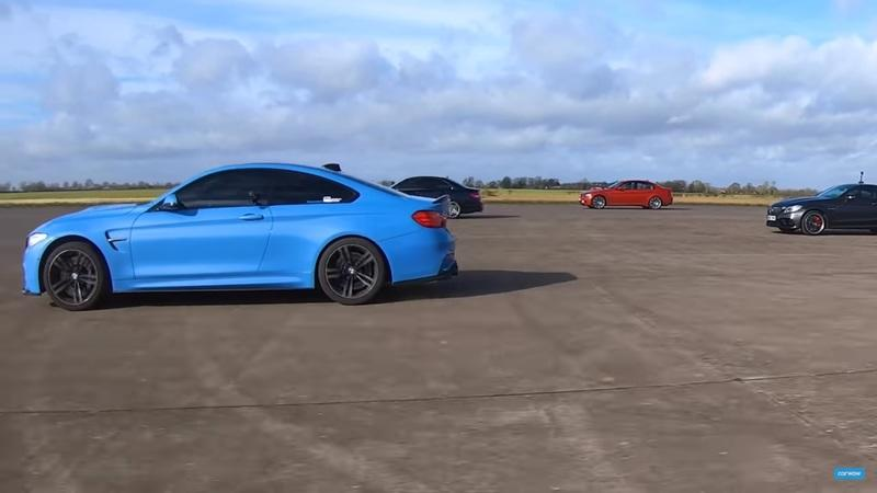 Drag Race: Old BMW M3 and Mercedes C63 AMG Meet New M4 and AMG C63