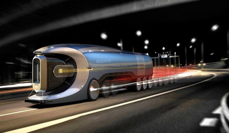 In The Future, This Bugatti Semi (Hyper) Truck Could Help Transport All the Crap You Buy on Amazon
