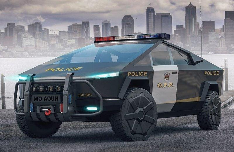 Is There a Case For a Tesla Cybertruck Police Car?