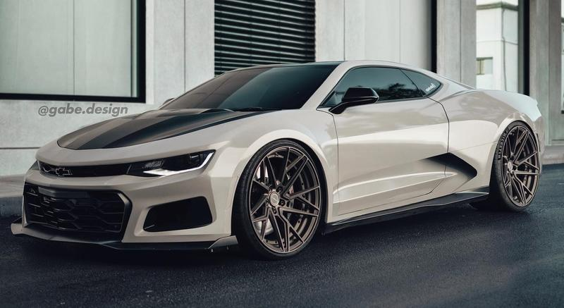 Rendering: If the Chevy Camaro Was Mid-Engined, It Would Look Very Lamborghini-ish