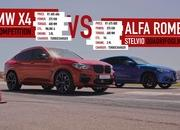 Watch an Alfa Romeo Stelvio Quadrifoglio Go Up Against The BMW X4 M Competition In A Drag Race - image 891147