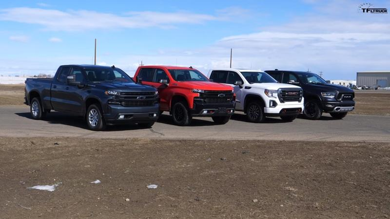Watch Four Pickup Trucks Go Up Against Each Other In A Bunch Of Drag Races