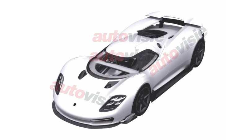 Alleged Patent Images Show a Porsche 918 Successor That's All Track Weapon