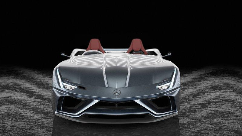 AMG GT Silver Echo: A Modern Mercedes SLR Rendering That Pays Tribute to Stirling Moss Exterior Computer Renderings and Photoshop - image 895989
