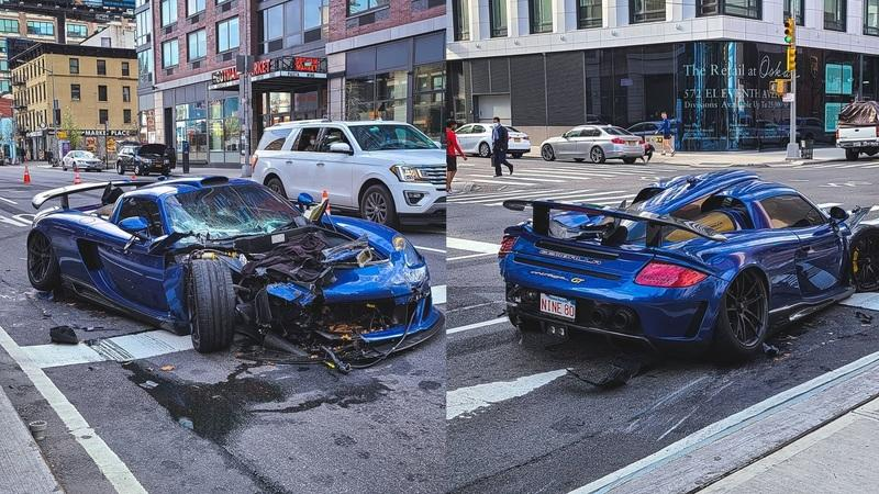 Driver in a Gemballa Mirage GT Goes Postal in Manhattan