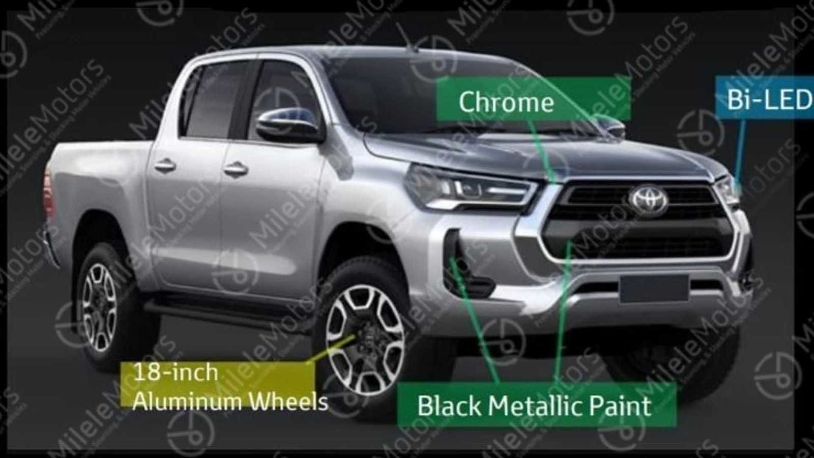 here u0026 39 s your first look at the 2021 toyota hilux