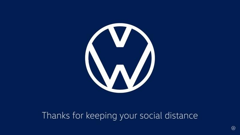 Mercedes-Benz, Audi and Volkswagen show new logos to encourage social distancing