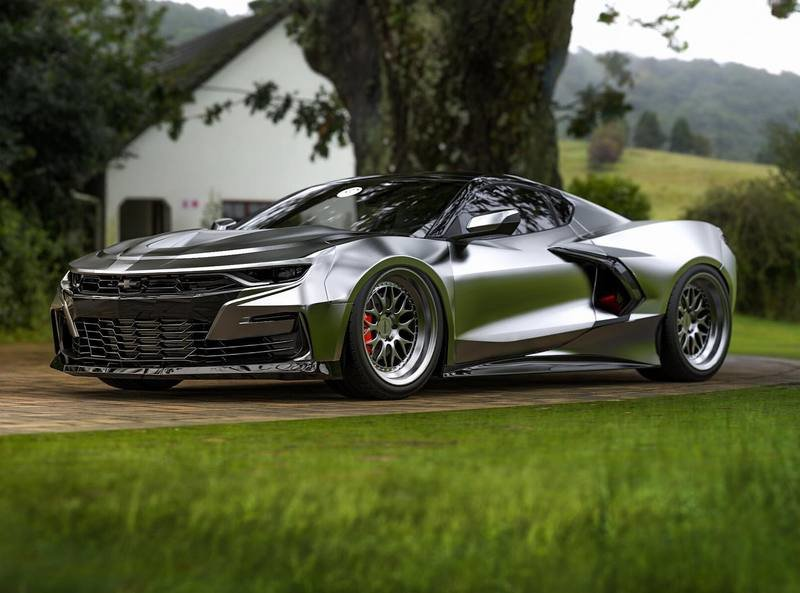 This Mid-Engine Chevy Camaro Looks Good, But Won't Happen