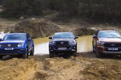 Watch The Volkswagen Amarok, Ford Ranger, and Toyota Hilux Fight It Out In A Series Of Off-Road Challenges