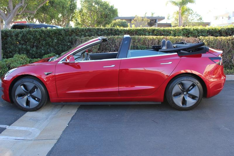 How Do You Feel About A Tesla Model 3 Convertible?