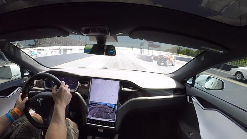 Tesla Model S Performance With The 'Cheetah Stance' Sets A New Quarter-Mile Record