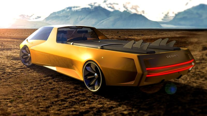 This Modern Interpretation of the Dodge Deora Concept Just Made the Future Chevy El Camino Weap in Fear