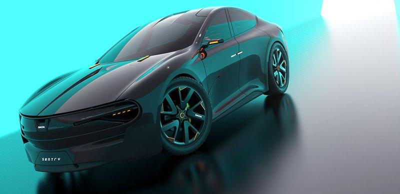 This Dacia Sentry Rendering Envisions An Unlikely Porsche Taycan Fighter