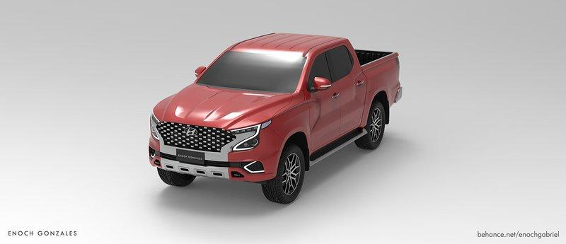 This Rendering Of A Hyundai Pickup Truck Looks Ready To Take On The Likes Of Ford Ranger