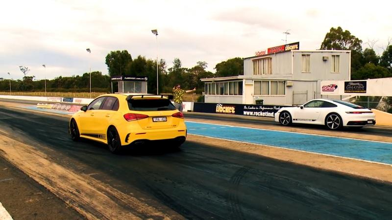 This Video Shows Just How Close the Mercedes-AMG A45 S and Porsche 911 Are in a Drag Race