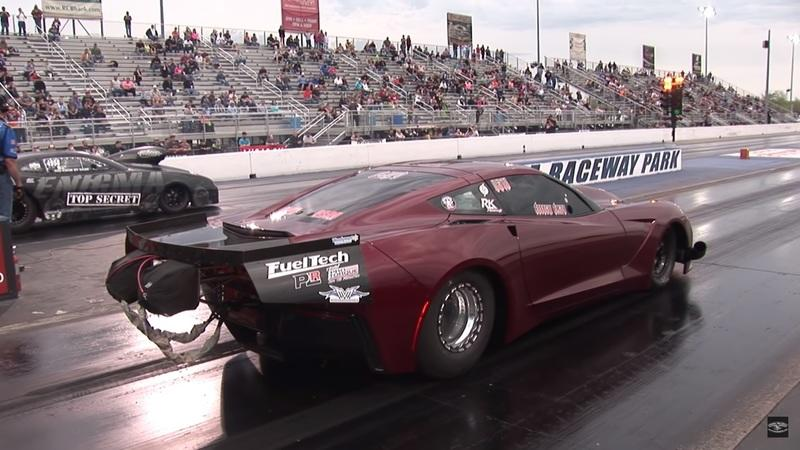 Watch a 4,000-Horsepower Corvette Defy Gravity on the Drag Strip