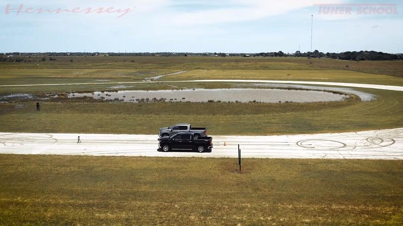 Watch The Hennessey Goliath 700 Take On A Stock Chevy Silverado