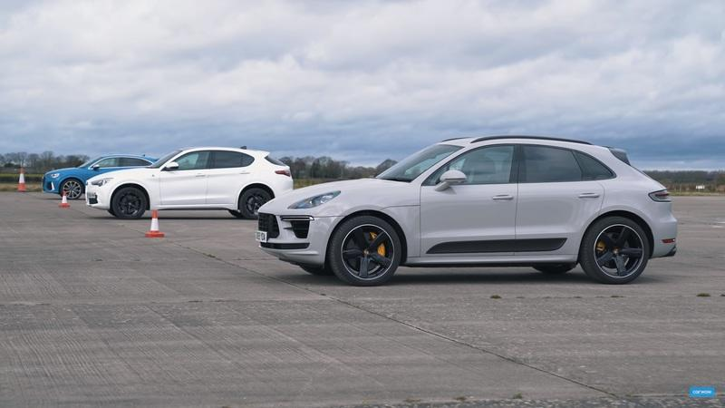 Watch the Porsche Macan Turbo, Alfa Romeo Stelvio Quadrifoglio, and the Audi RS Q3 Go Up Against Each Other In a Drag Race