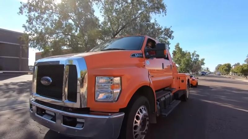 Can a First-Gen Tesla Roadster Really Pull a Massive Ford F-650?