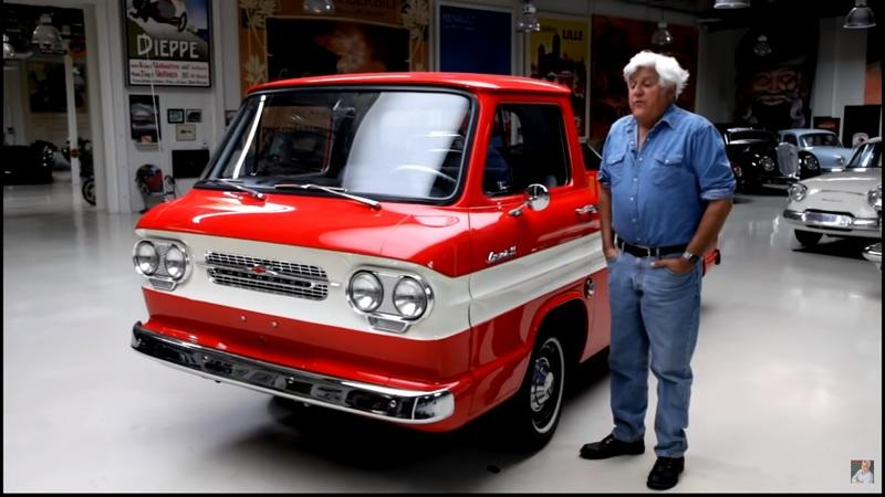 Check Out This Amazing 1961 Chevy Corvair Rampside That Stopped By Jay Leno's Garage