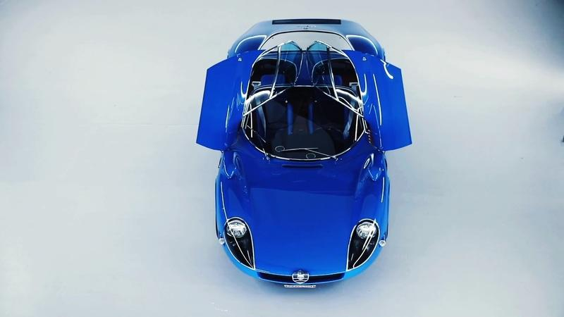 The Blue Alfa Romeo Tipo 33 Stradale Is Real, Although It Doesn't Seem Like It