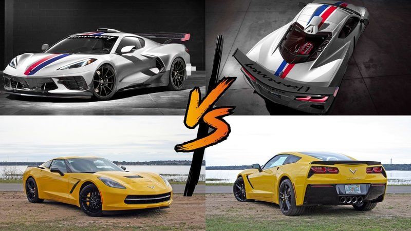 People Are Missing The Point of This Race Between a Hennessey-Modded C8 Corvette and a Bone Stock C7 Corvette