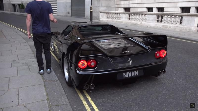This Factory Black Ferrari F50 With Straight Pipes Sounds Heavenly On the Near-Empty Streets of London