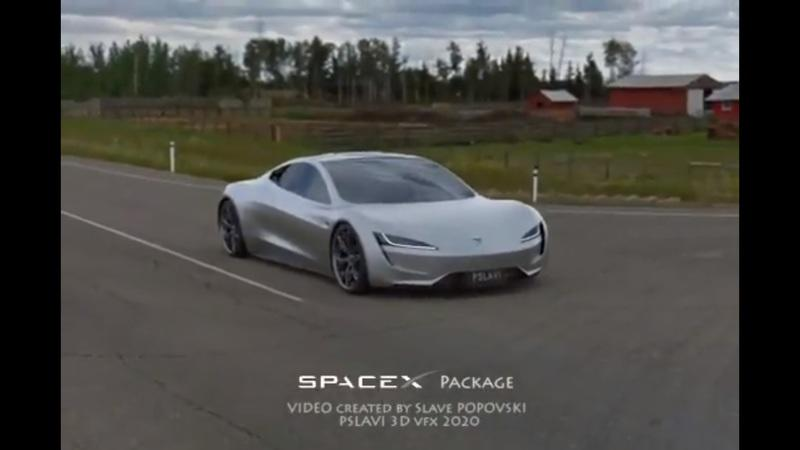 This Rendered Video of The Tesla Roadster Shows What a 1.1-Second Sprint to 60 MPH Would Look Like