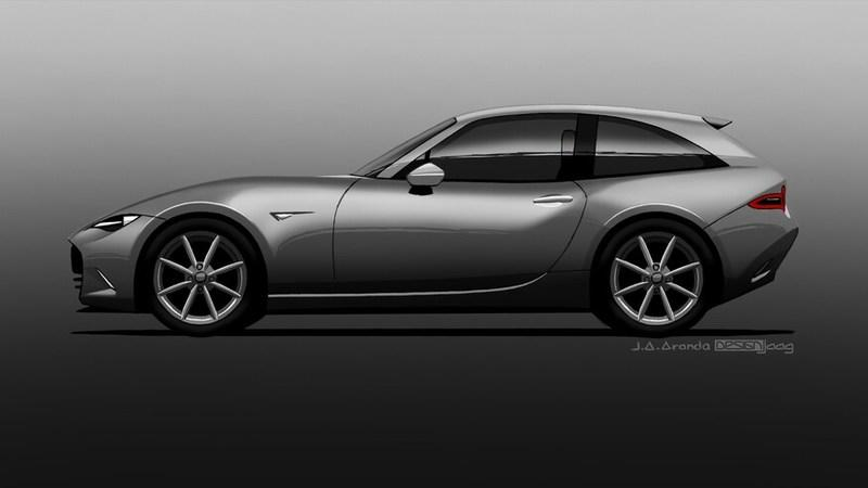 This Rendering of a Mazda MX-5 Wagon Looks Painfully Like the BMW Z3 M Coupe