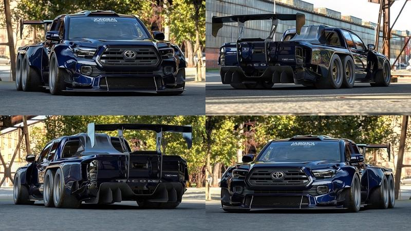 This Three-Axle Toyota Tacoma TRD Is Too Crazy To Describe