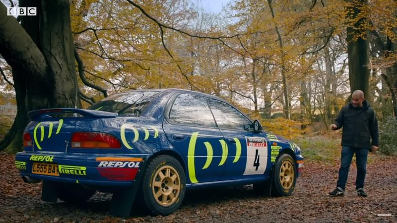 Two Legends Come Together as Chris Harris Gets Behind the Wheel Of Colin McRae's WRC Subaru Impreza