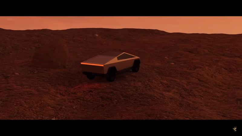 Watch the Tesla Cybertruck Cruise Around Mars in This Fan-Made Video