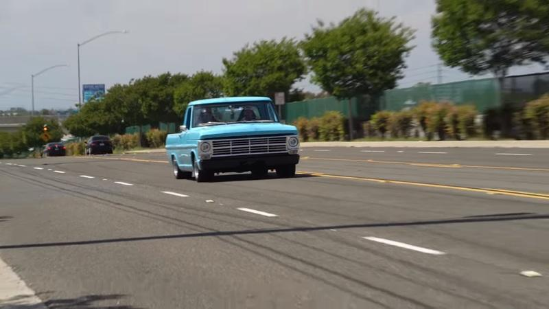 Watch This Restored 1969 Ford F-100 Burn Rubber In One Of The Longest Burnouts We've Seen From A Truck - image 911644