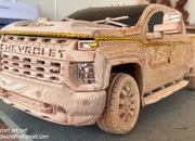 Watch This Video of a Wood-Carved 2021 Chevy Silverado 2500 HD to Get Rid of Your Mid-Week Blues - image 915267
