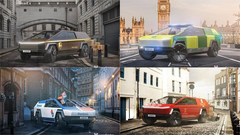 Check Out These Renderings of The Tesla Cybertruck as Various Public Service Vehicles