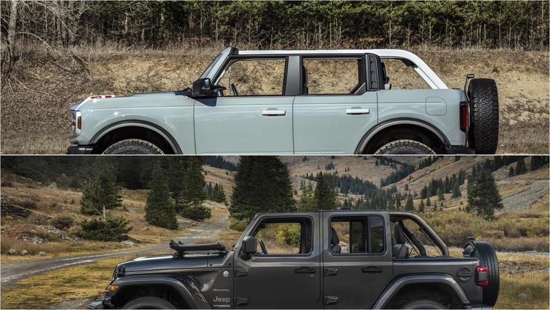 Ford Bronco vs. Jeep Wrangler