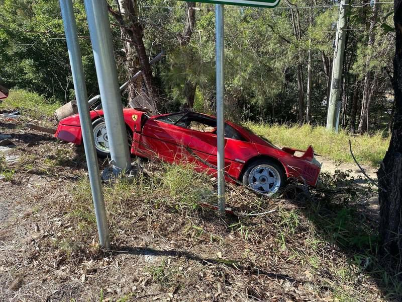 Need Reasons To Weep? Look At This Ferrari F40 That Someone Crashed