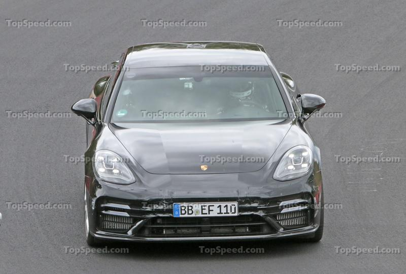 Porsche Panamera Turbo Facelift Goes For Nurburgring Record Exterior Spyshots - image 924738