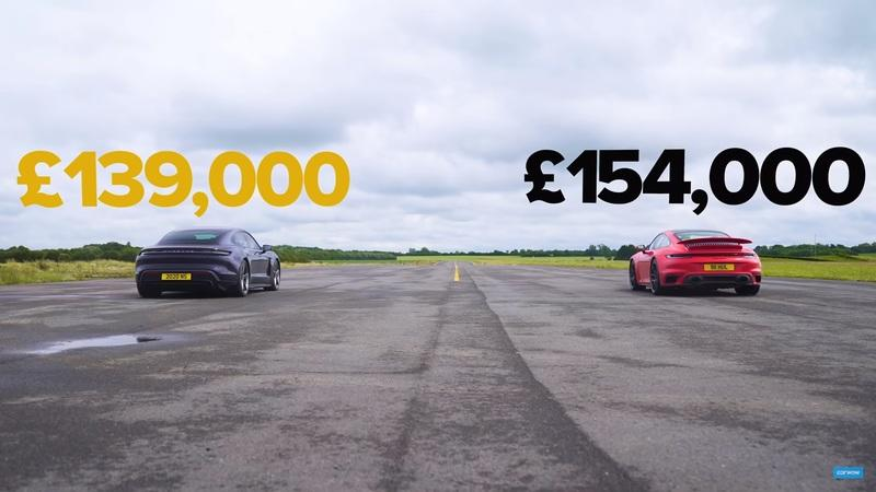 The Porsche Showdown You've Been Waiting For: A 911 Turbo S vs Taycan Turbo S