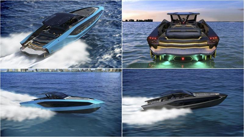There's a $3.4 Million Lamborghini Yacht With a 4,000 Horsepower 24-Cylinder Engine