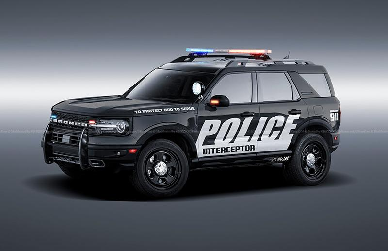 This 2021 Ford Bronco Police Interceptor Is Ready to Protect and Serve You Off-Road