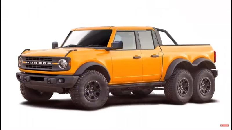 This Ford Bronco 6x6 Pickup Screams Merica!