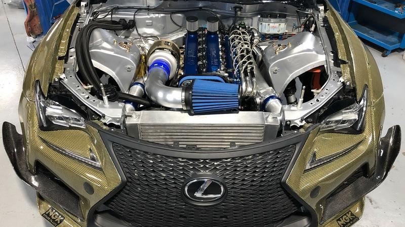 This Lightweight, 1200-Horsepower, 2JZ-Powered Lexus RC F Drift Car Is Downright Mad