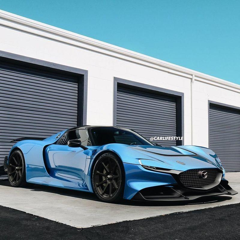 This RX Vision - 918 Mashup Is Proof Mazda and Porsche Should Build a Hypercar Together