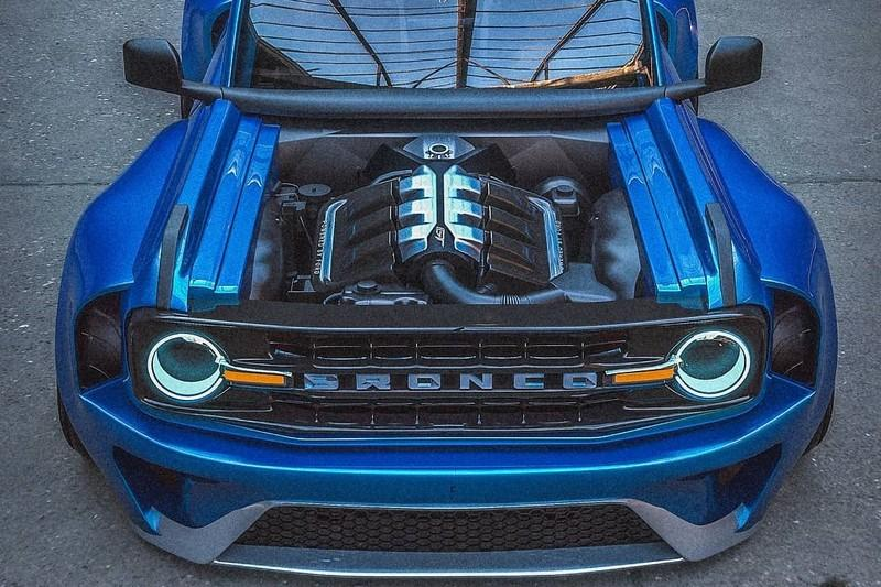 This Slammed Ford Bronco-GT Supercar Mashup is Oddly Satisfying