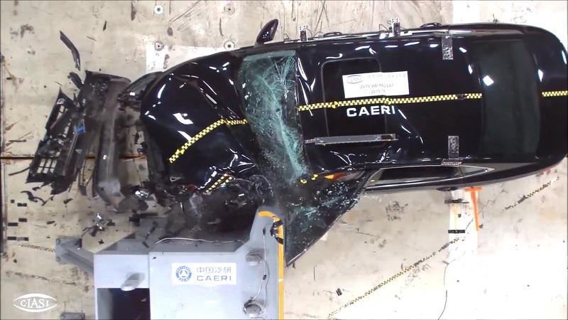 Watch a 2019 Volkswagen Passat Fail Miserably During Chinese Crash Testing
