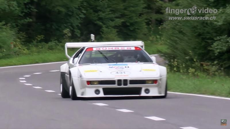 Watching One BMW M1 ProCar Do Gurngel Hillclimb is a Treat, Three is Heaven On Earth
