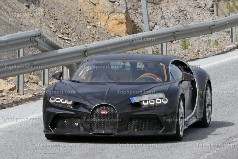 What in the World is this Strange Bugatti Chiron Test Mule Doing on the Road?
