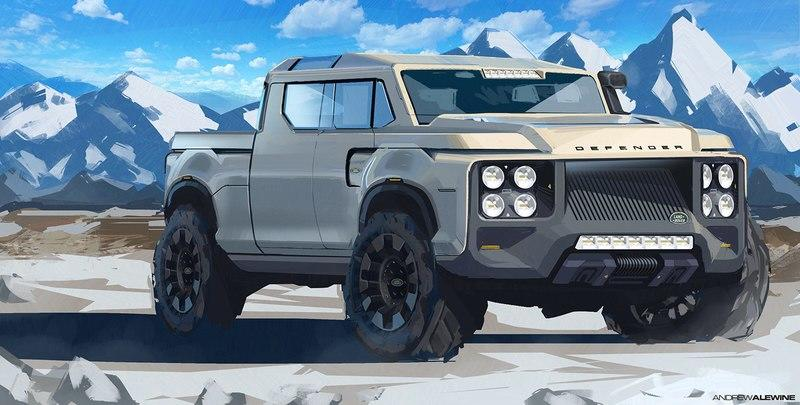 Have You Ever Wondered What A Land Rover Defender Would Look Like As A Pickup Truck?