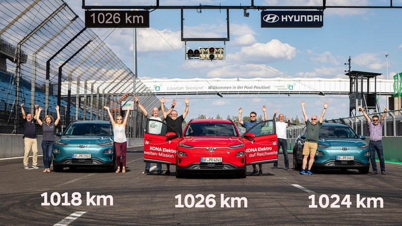 Hyundai Kona Electric Sets New EV Range Record With 630+ Miles Per Charge
